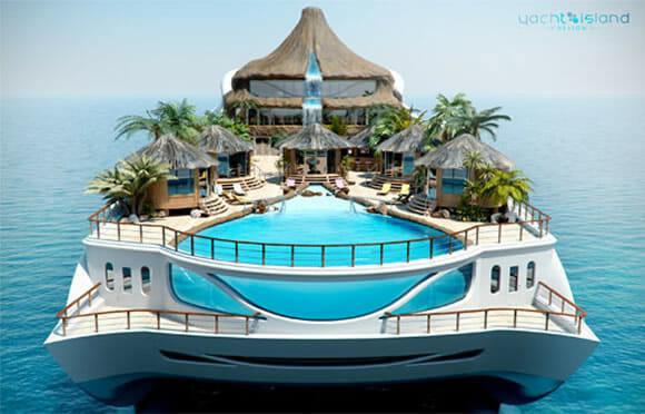 O Fantástico Iate em forma de Ilha Paradisíaca!