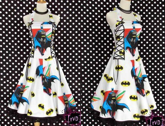 Vestidos vintage inspirados no Batman.