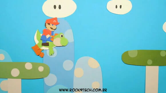VIDEOFUN - Stop motion do Super Mario feito com cenários e personagens de papel!