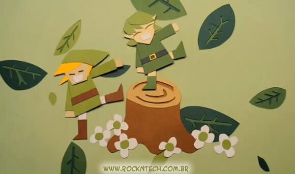 VIDEOFUN - Stop Motion do The Legend Of Zelda feito com personagens de papel.