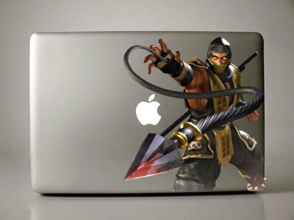 Aparador Antiguo Pintado ~ Adesivo Sub Zero do game Mortal Kombat para Macbooks ROCK'N TECH