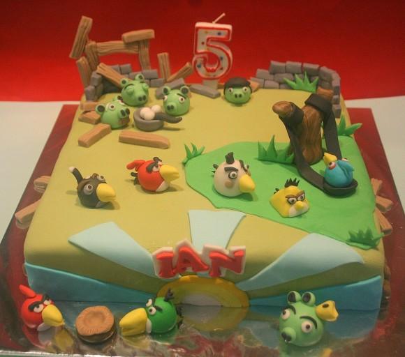 25 bolos AWESOME inspirados no game Angry Birds!