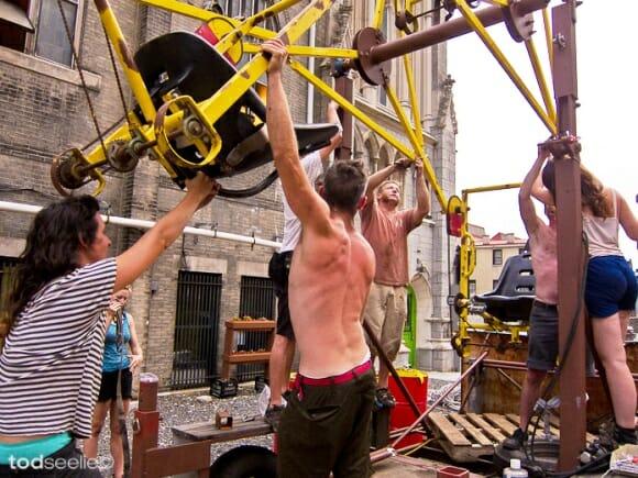 Uma Roda Gigante maluca movida a pedais de bicicleta! (com vídeo)