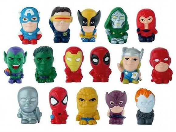 Borrachas inspiradas nos heróis e vilões da Marvel. Cool!