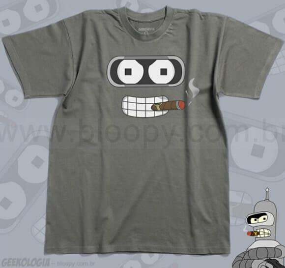 Camiseta do Bender é AWESOME!