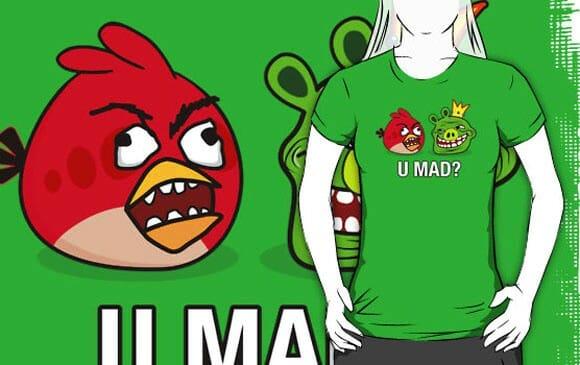 Camiseta Rage Birds e TrollPigs