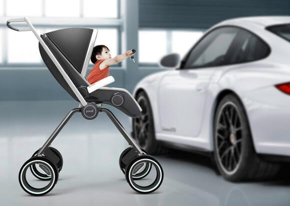 Carrinho de bebê da Porsche para os filhos dos bem sucedidos!