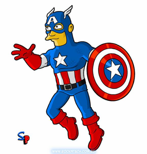 FOTOFUN - Capitão América Simpsonizado!