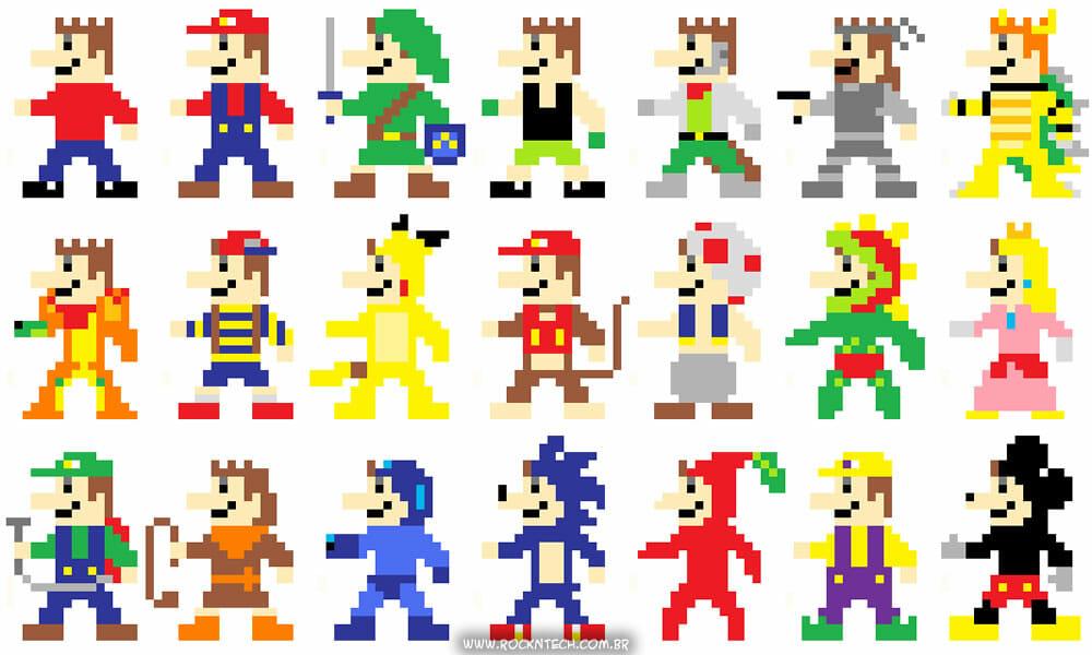 Super Mario Link, Super Mario Pikachu, Super Mario Mickey, Super Mario