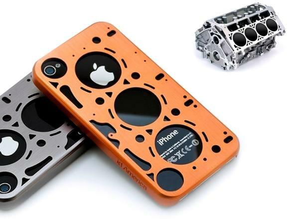 Cases para iPhone 4 inspiradas em juntas de vedação de motores.