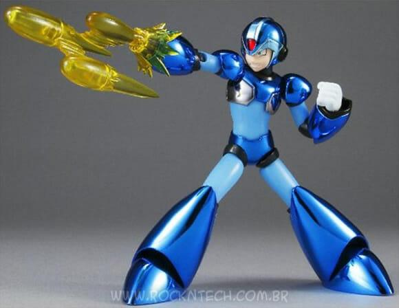 Objeto de desejo do dia: Action Figure Megaman-X metalizado