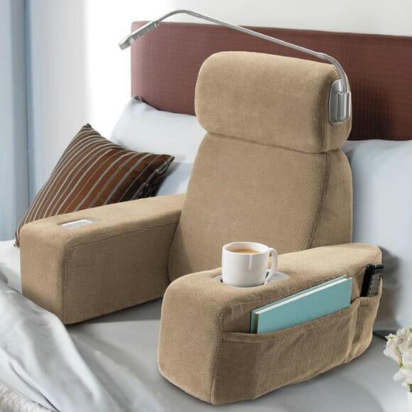 Poltrona massageadora transforma sua cama no lugar mais confortável da sua casa.