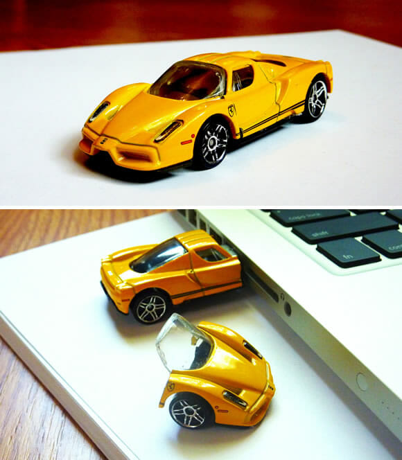 Pen drive Enzo Ferrari para apaixonados por carros.