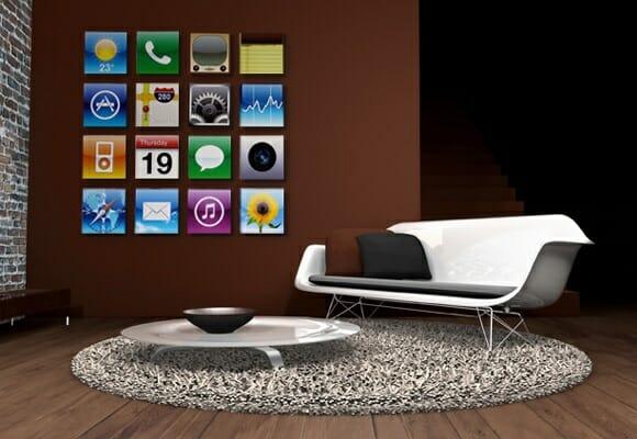 Decore sua casa com pinturas dos ícones do iPhone e do iPad.