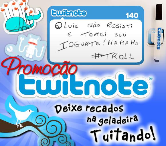 Promoção Twitnote - Ganhe um kit de ímãs do Twitter!