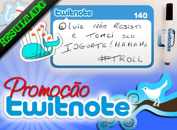 Resultado promoção Kit de ímãs Twitnote