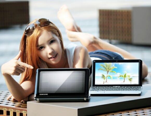 Samsung lança notebook que pode ser recarregado via energia solar.