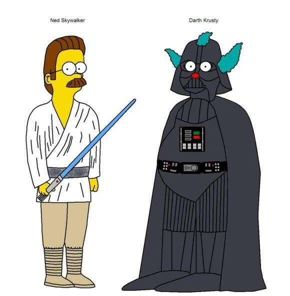 Simpsons Star Wars.