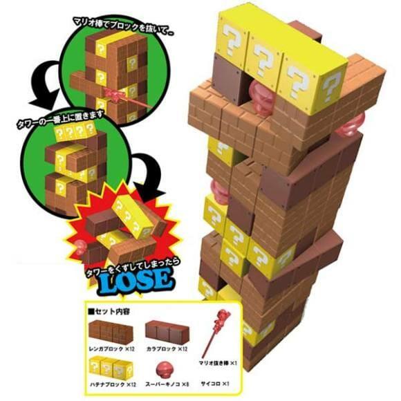 Jogo Jenga versão Super Mario Bros.