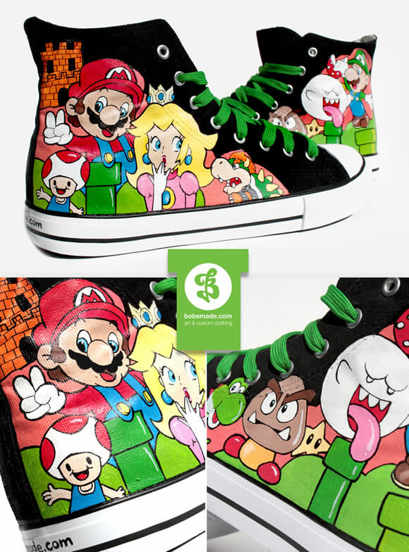 Super Mario Shoes - Mais um All Star para fãs do Super Mario.