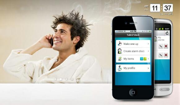 TalkO'Clock - Um aplicativo que te acorda com telefonemas de estranhos.