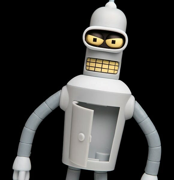 Action Figure falante do Bender da série Futurama. #TODOSQUER! (com vídeo)