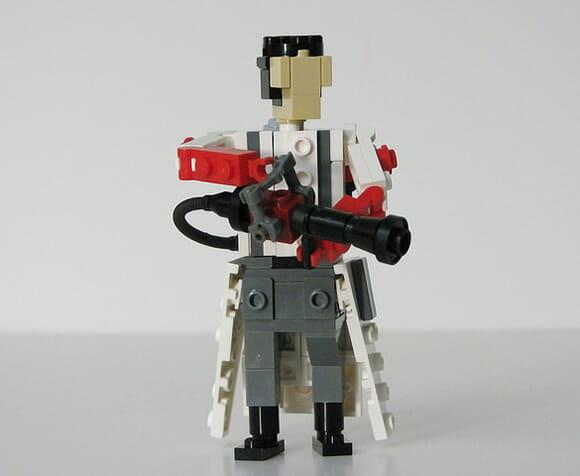 Personagens do jogo Team Fortress 2 feitos de LEGO. :D