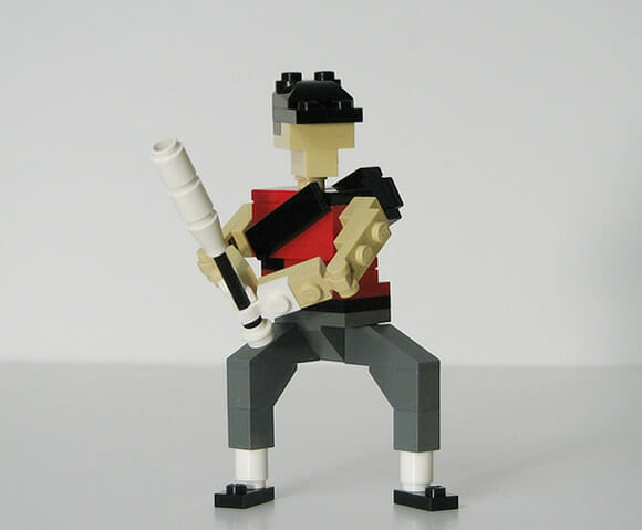 Personagens do jogo Team Fortress 2 feitos de LEGO. :D
