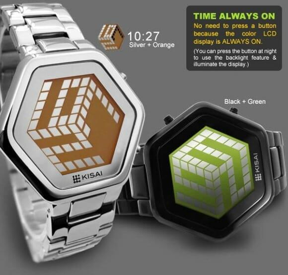 Relógio de pulso Unlimited exibe horas em um cubo 3D. (com vídeo)