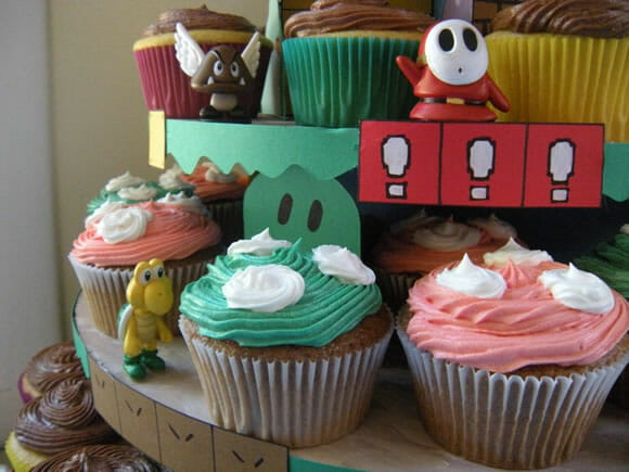 Torre de Cupcakes do Super Mario!