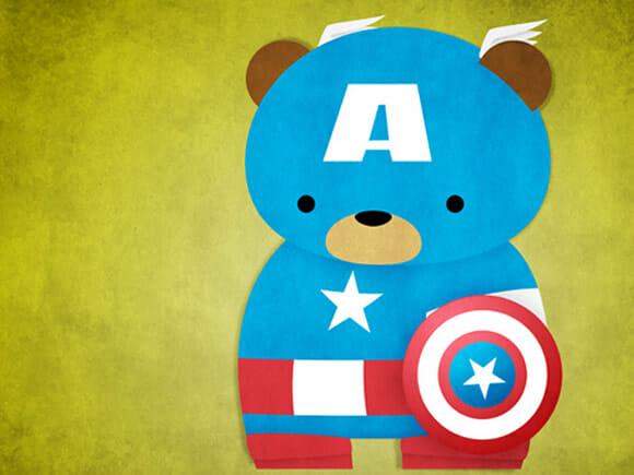 Fanart do dia: Super-Heróis e personagens de Star Wars como ursos de pelúcia.