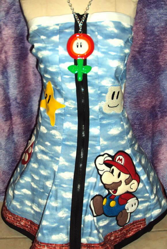 Mario Dress: O vestido do Super Mario!