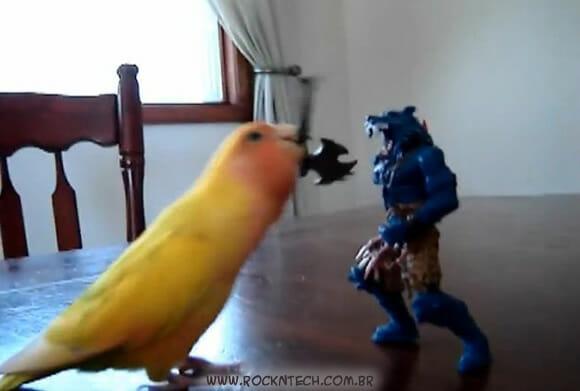 VIDEOFUN - Pássaro vs Action Figures: Quem vence?