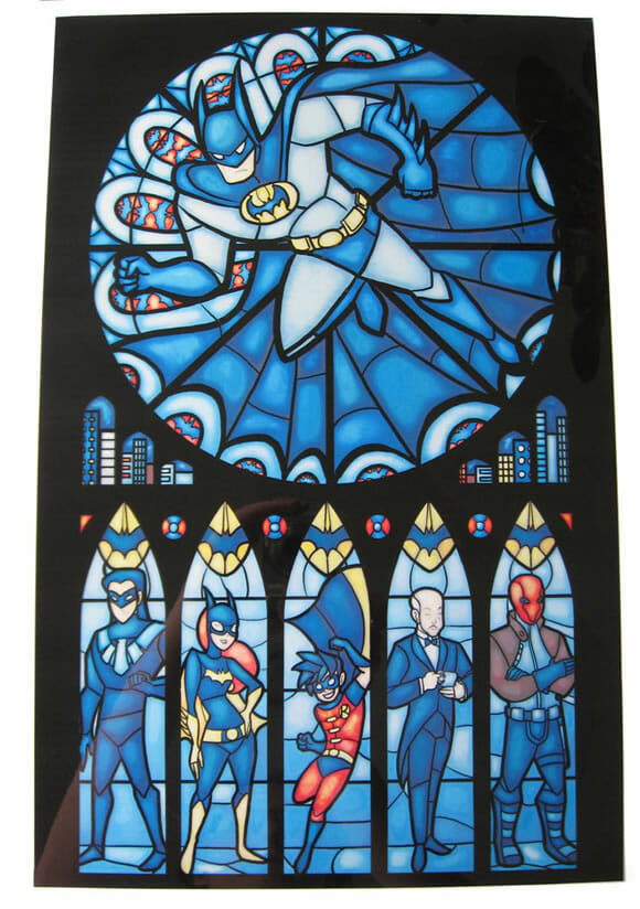 Vitral do Batman para decorar a sua casa!