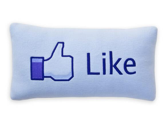 Almofada botão Like do Facebook.