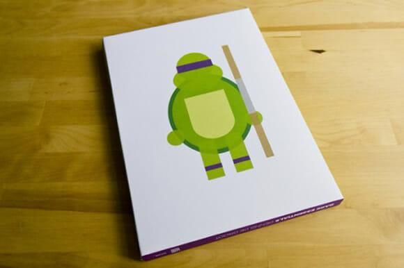Bare Essentials - Um livro com figuras minimalistas de personagens famosos.