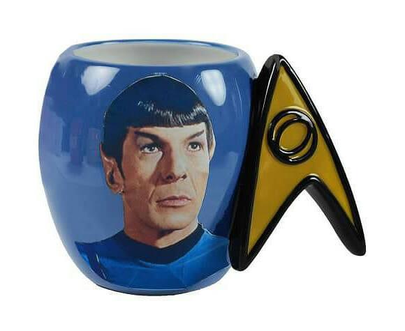 Caneca do Spock para fãs de Star Trek.