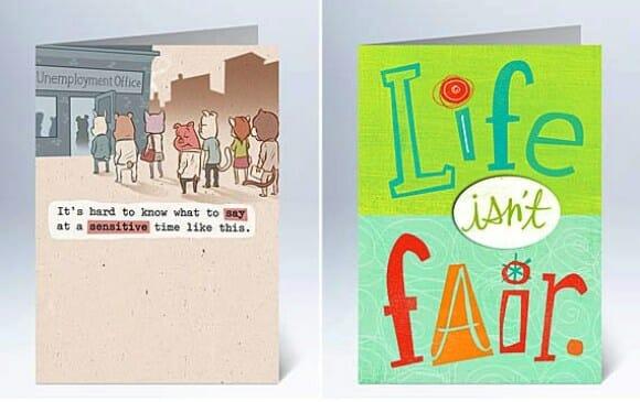 Agora existe até cartão de condolências para recém-desempregados!