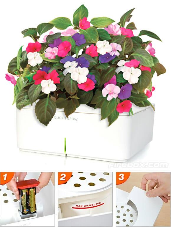 Vaso de plantas eletrônico cuida das plantas dos ocupados e esquecidos.