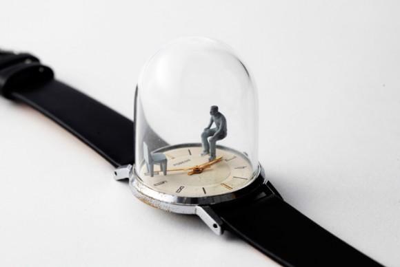Os incríveis relógios com mini esculturas de Dominic Wilcox!