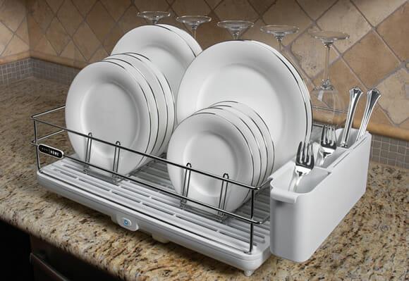 Aposente seus panos de prato trocando-os por um Escorredor de Louças Eletrônico!