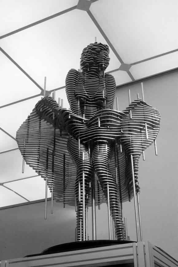 As esculturas fatiadas de Park Chan-girl.