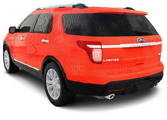 Um Ford Explorer feito com mais de 382 mil peças de LEGO! (com vídeo)