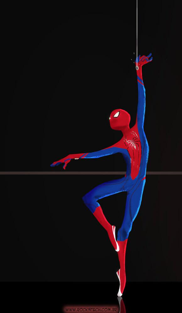 FOTOFUN - Novo hobby do Homem-Aranha.