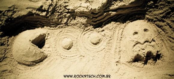 FOTOFUN - Pac-Man na Areia.
