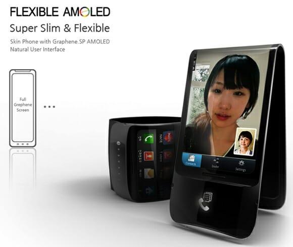 Samsung lançará o primeiro smartphone com display flexível já em 2012.