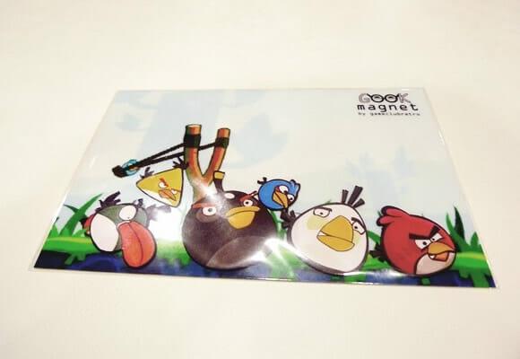 Kit de ímãs de geladeira do Angry Birds.