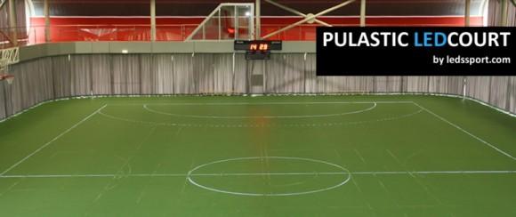 Em um futuro próximo as quadras poliesportivas serão demarcadas por LEDs.