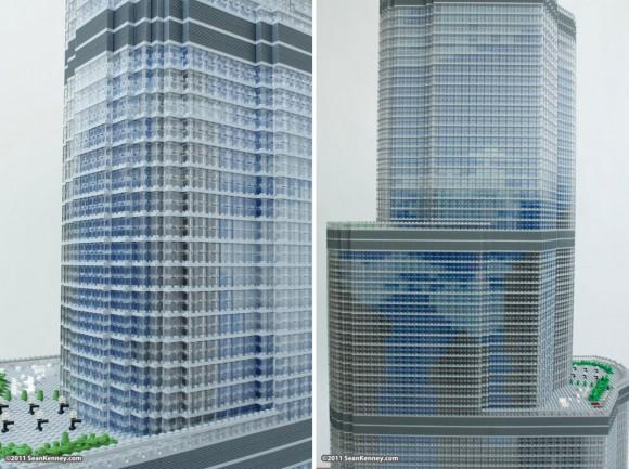 Homem constrói réplica de arranha-céu usando 65 mil peças de LEGO.