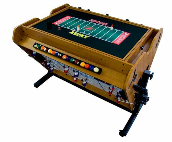 4 vezes mais diversão com uma mesa de games 4 em 1 rotacionável!
